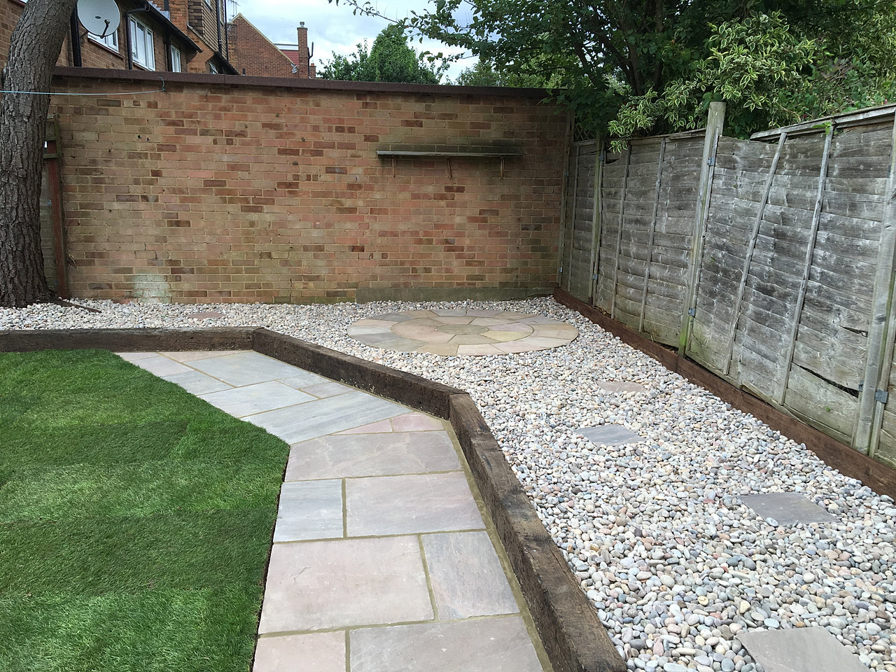 New Lawn, Patio And Path, Abbots