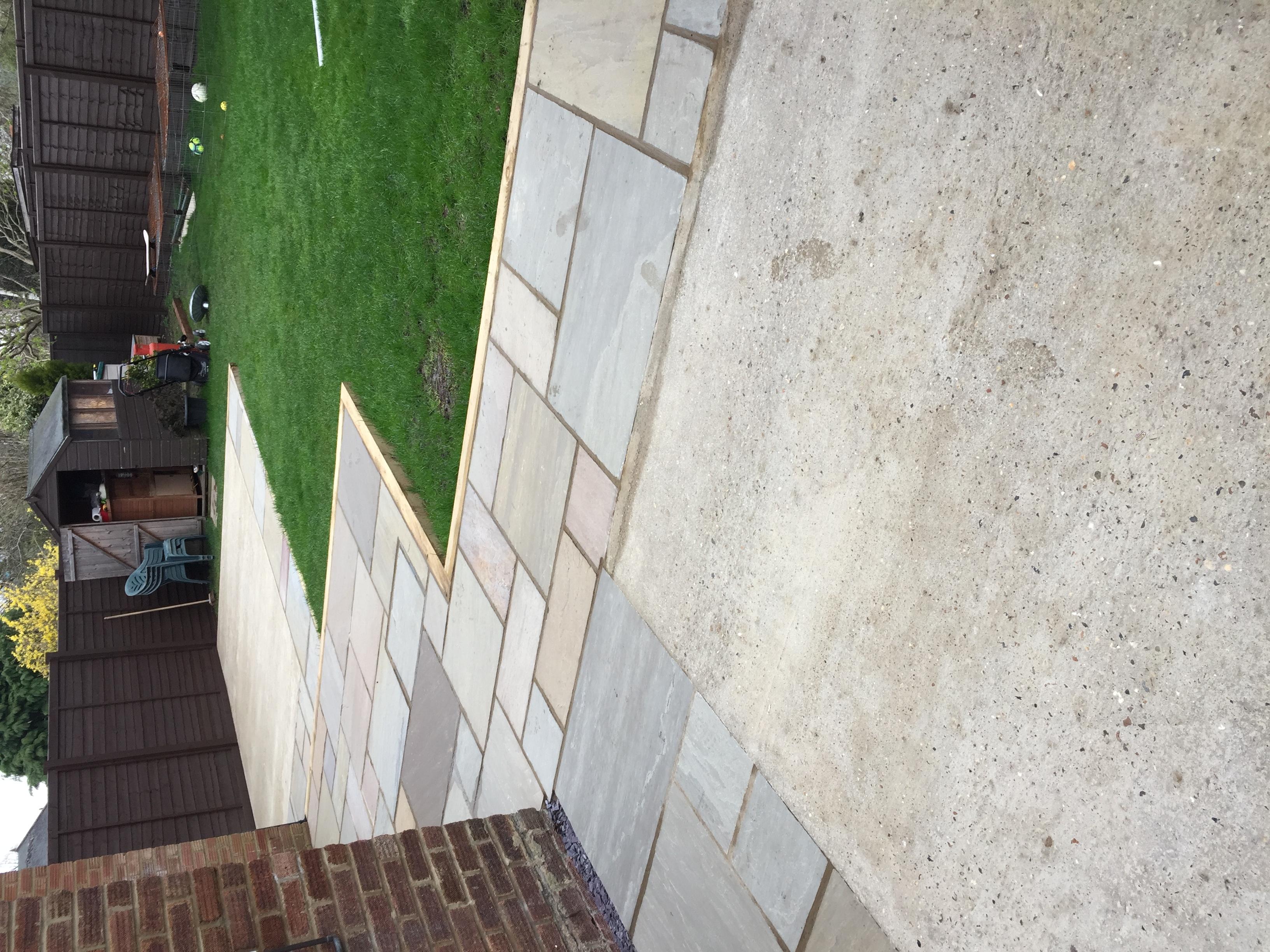Patio & concrete base, Hatfield.