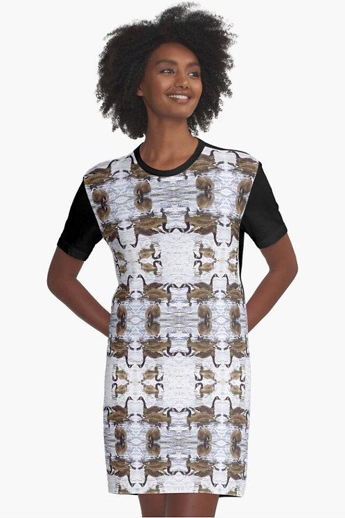 T-Shirt Dress - Heather Bird's Birds