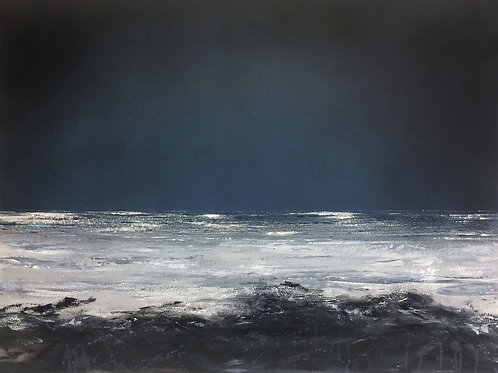Obsidian Swell - 80 x 60cm