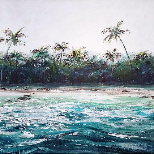 Coconut Water - 100 x 100cm