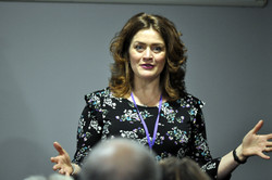 Presenter Caroline Hart