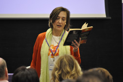 Judith Lowe presenting