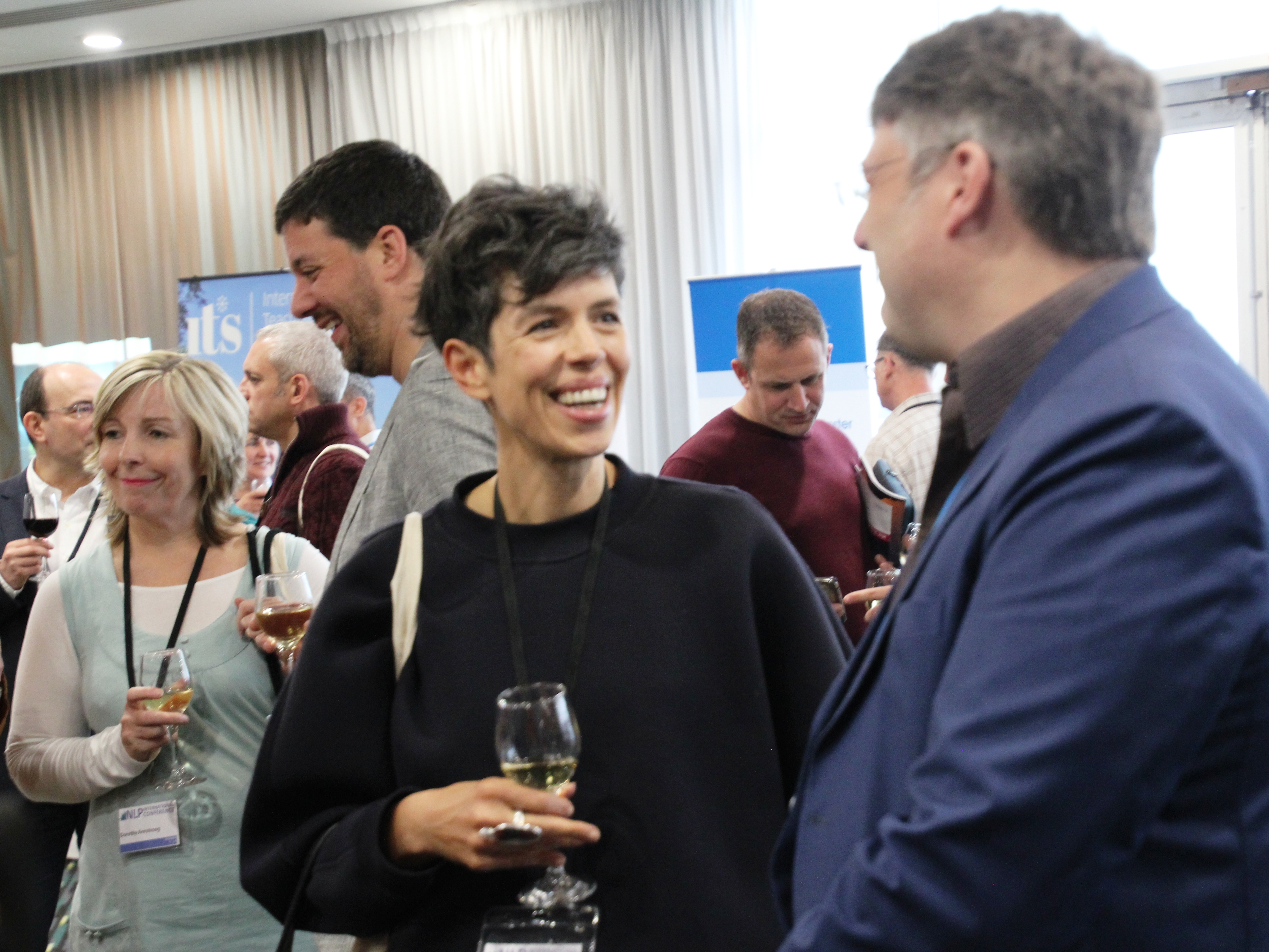 Socialising at NLP Conference 2017