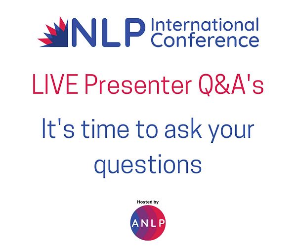 LIVE Presenter Q&A's - time to ask quest
