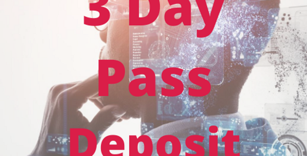 3 Day Conference Pass Deposit (exc VAT)