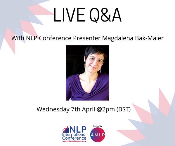 2021 04 07 @2pm - LIVE Q&A  Magdalena Ba