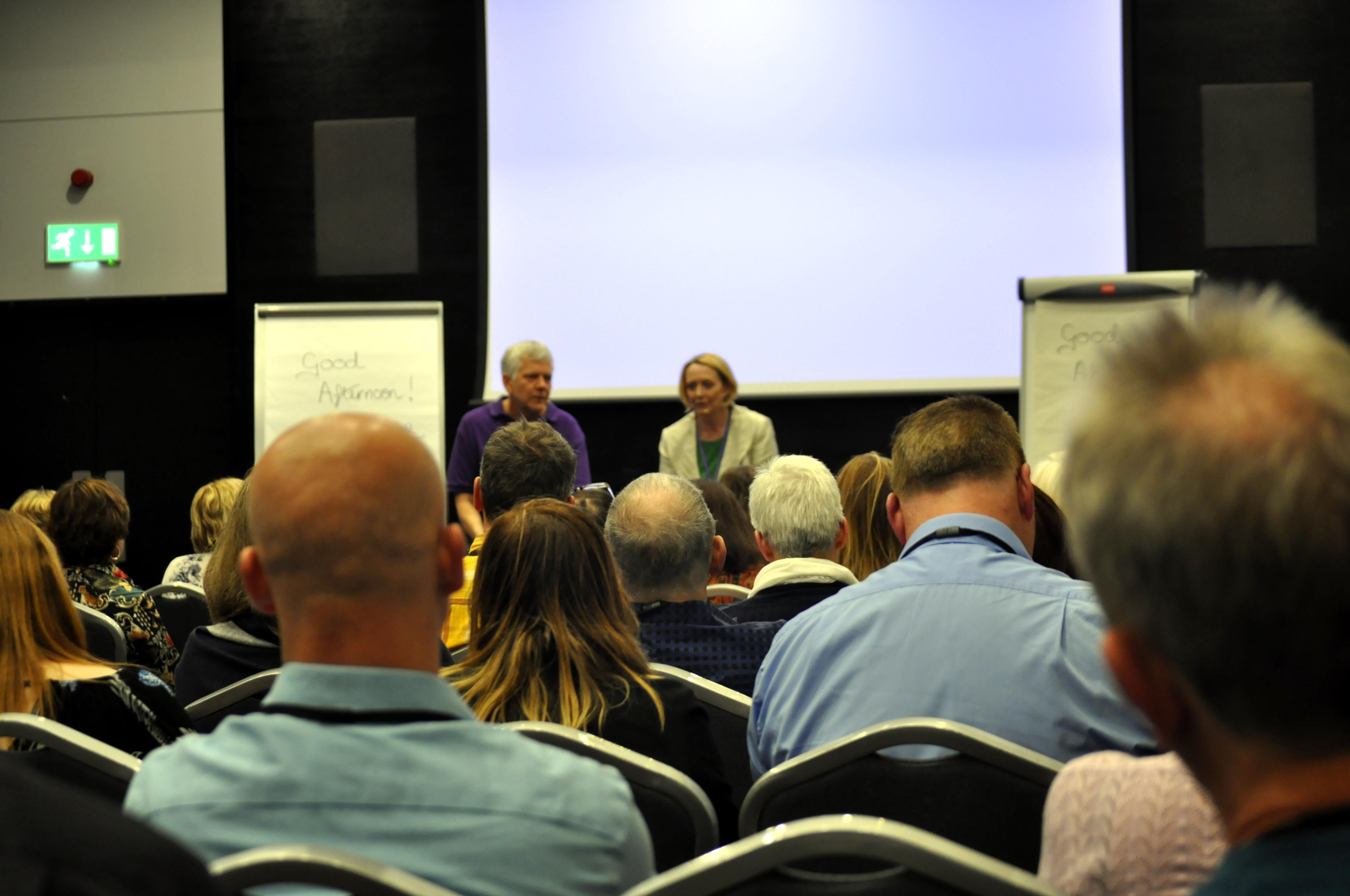 Ian McDermott and Patricia Riddell