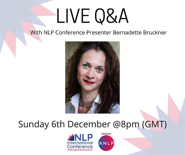 2020 12 06 @8pm LIVE Q&A - Bernadette Br