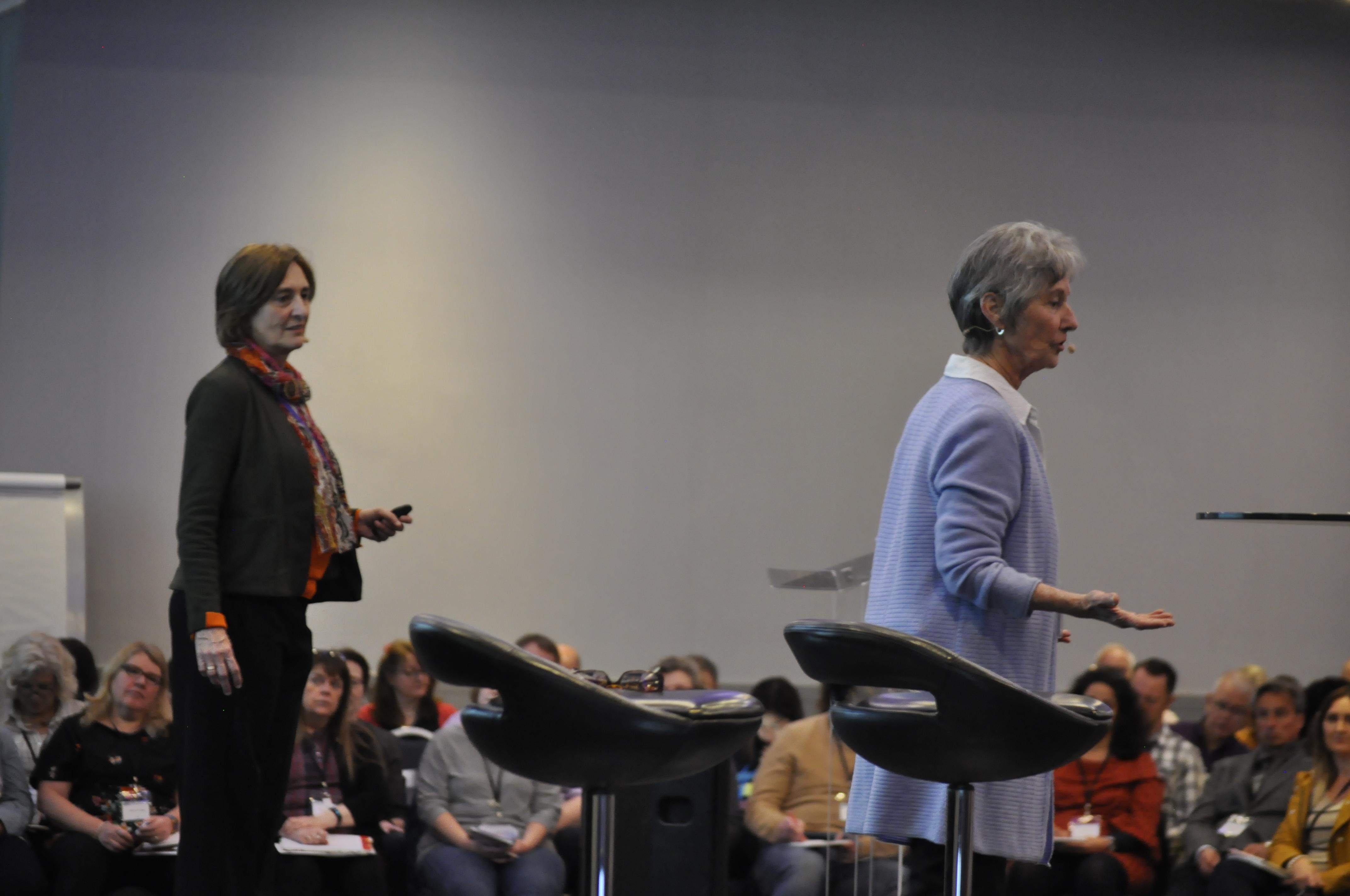 Judith Lowe and Judith DeLozier