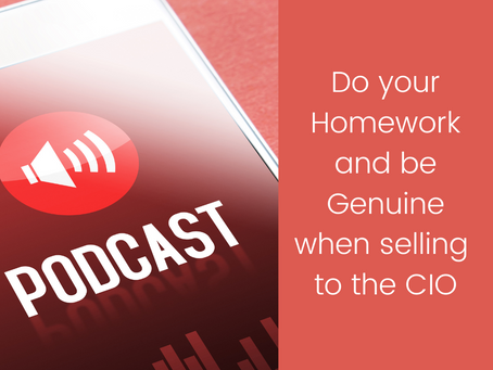 Selling to the CIO Podcast #4