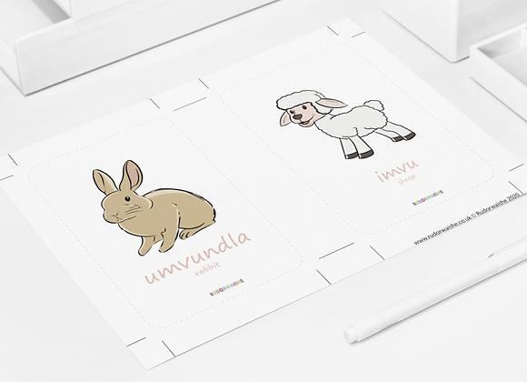 isiNDEBELE | Animals Printable