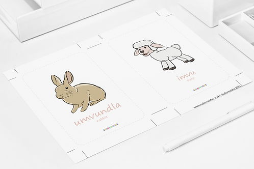 isiNDEBELE | Animals Printable