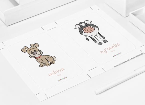 SWAHILI | Animals Printable
