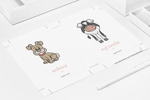 SWAHILI   Animals Printable