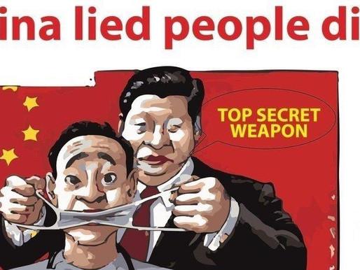 """""""CHINA HAT GELOGEN, MENSCHEN SIND GESTORBEN"""""""