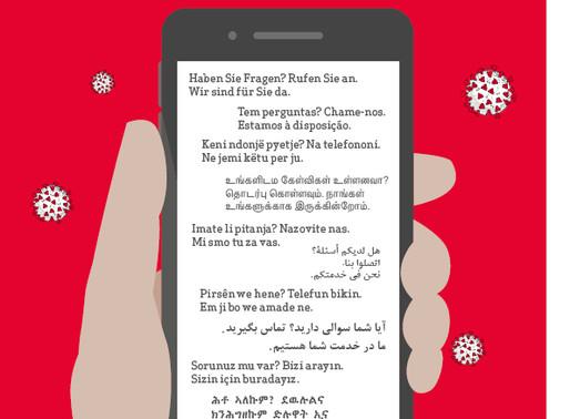 HEKS lanciert Corona-Helpline in 10 verschiedenen Sprachen