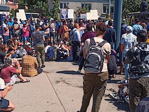 Reaktionen der Medien auf den Protest von Geflüchteten