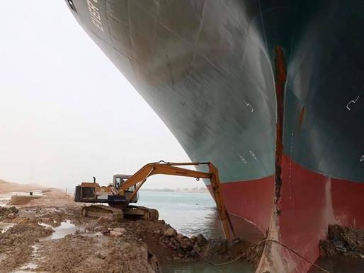 Ever Given blockiert den Suezkanal