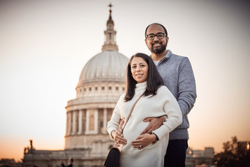 American couple pregnancy photography