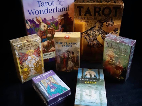 We finally have tarot decks in stock!!! Here's a few: