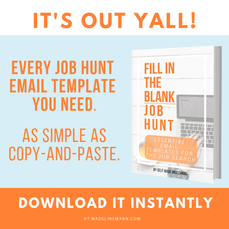 Fill In The Blank Job Hunt Essential Email Templates For The Job Search Madeline Mann