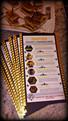 Custom Handmade Themed Keepsake Menu Cards - Catering Extras - Taste Of The Best Catering