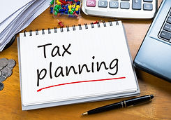 Handwriting of Tax Planning as memo on w