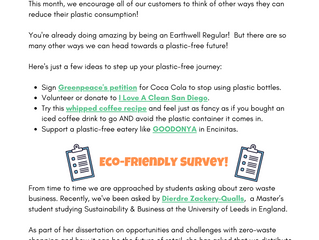 Plastic Free July! July 2020 Newsletter