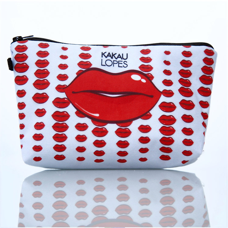 Red Lips Cosmetic Bag
