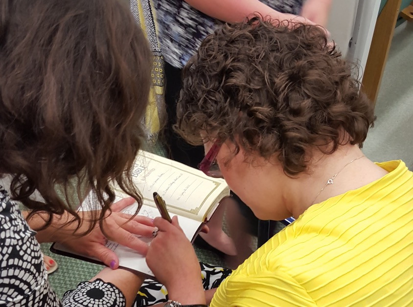 Signing Bibles in Walls, MS