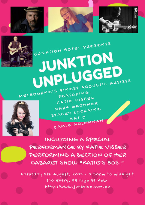 Junktion welcomes Katie as she promotes her upcoming cabaret show (no rubbish)