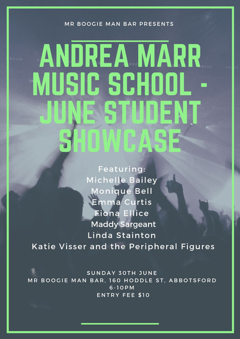 Showcases, musicals, teaching and a possible tribute band in the mix