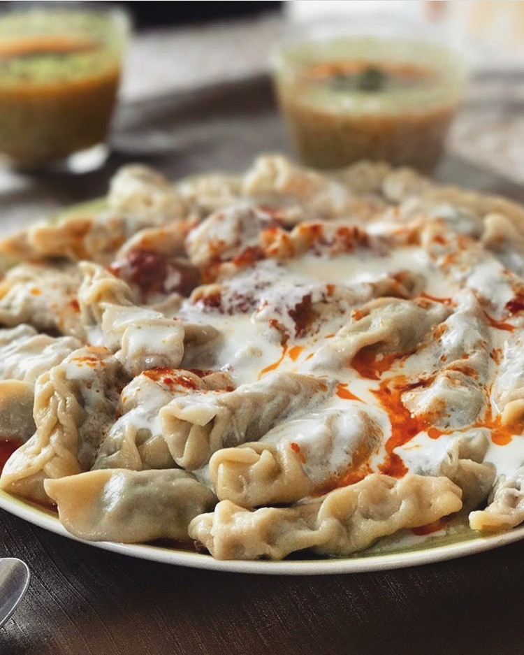 A plate full of Gurza. Azerbaijani dumplings