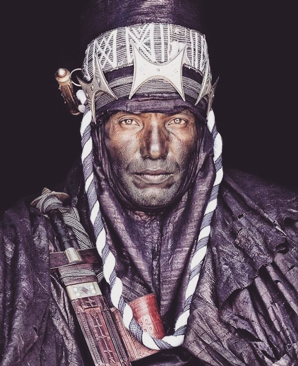 A festively dressed Tuareg man