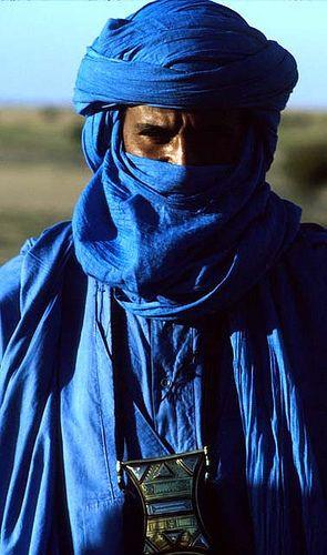 A Tuareg Man in Blue attire