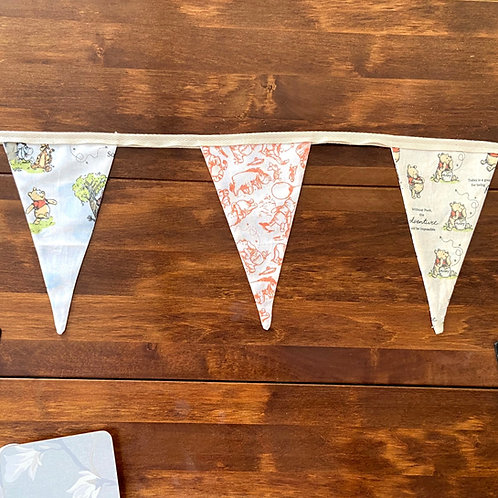 Personalised bunting- small flags