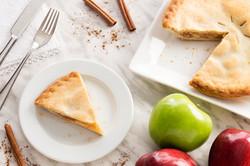 Aerial Shot of Apple Pie in Kitchen