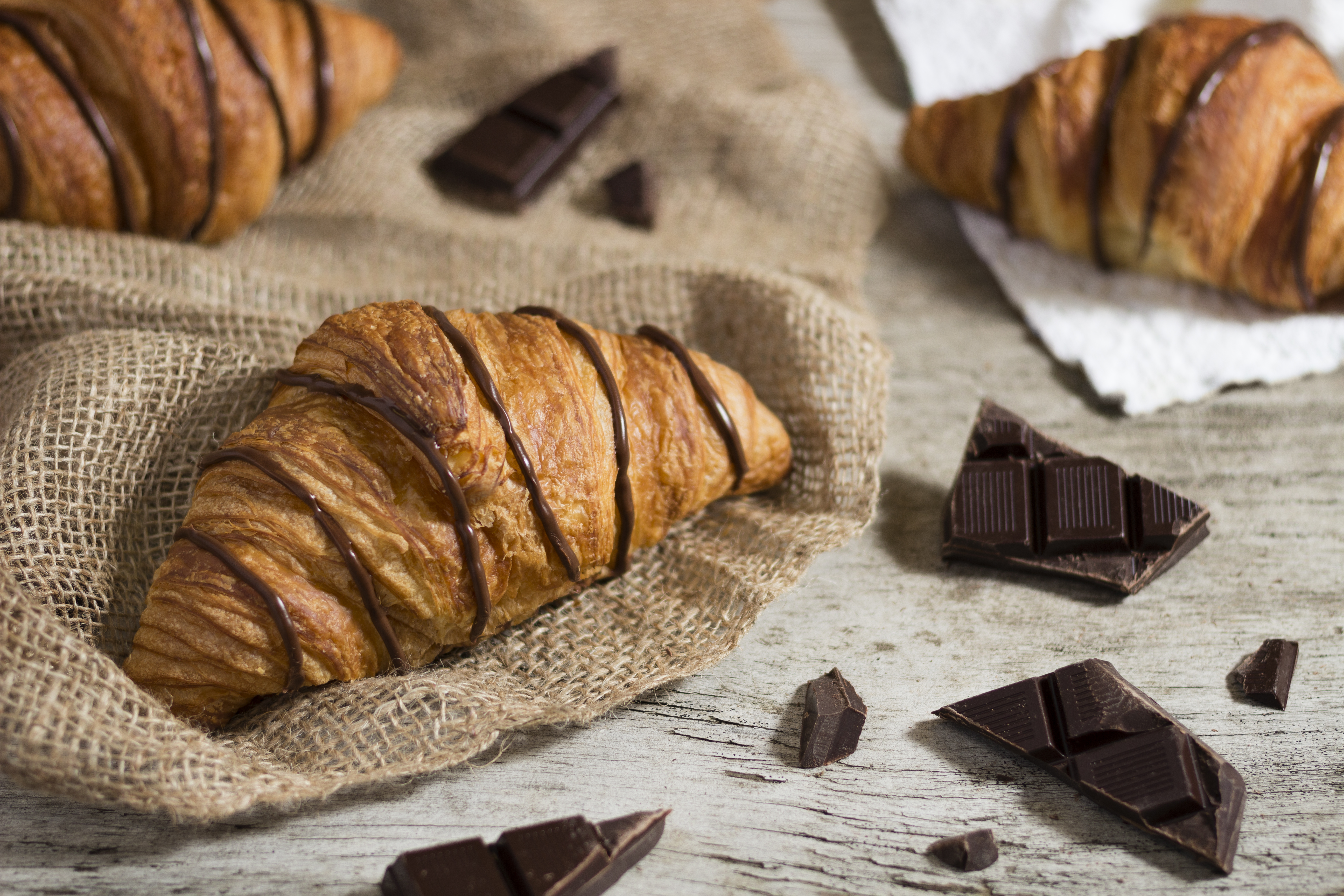 Croissants with Dark Chocolate