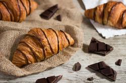 Croissants with Dark Chocolate