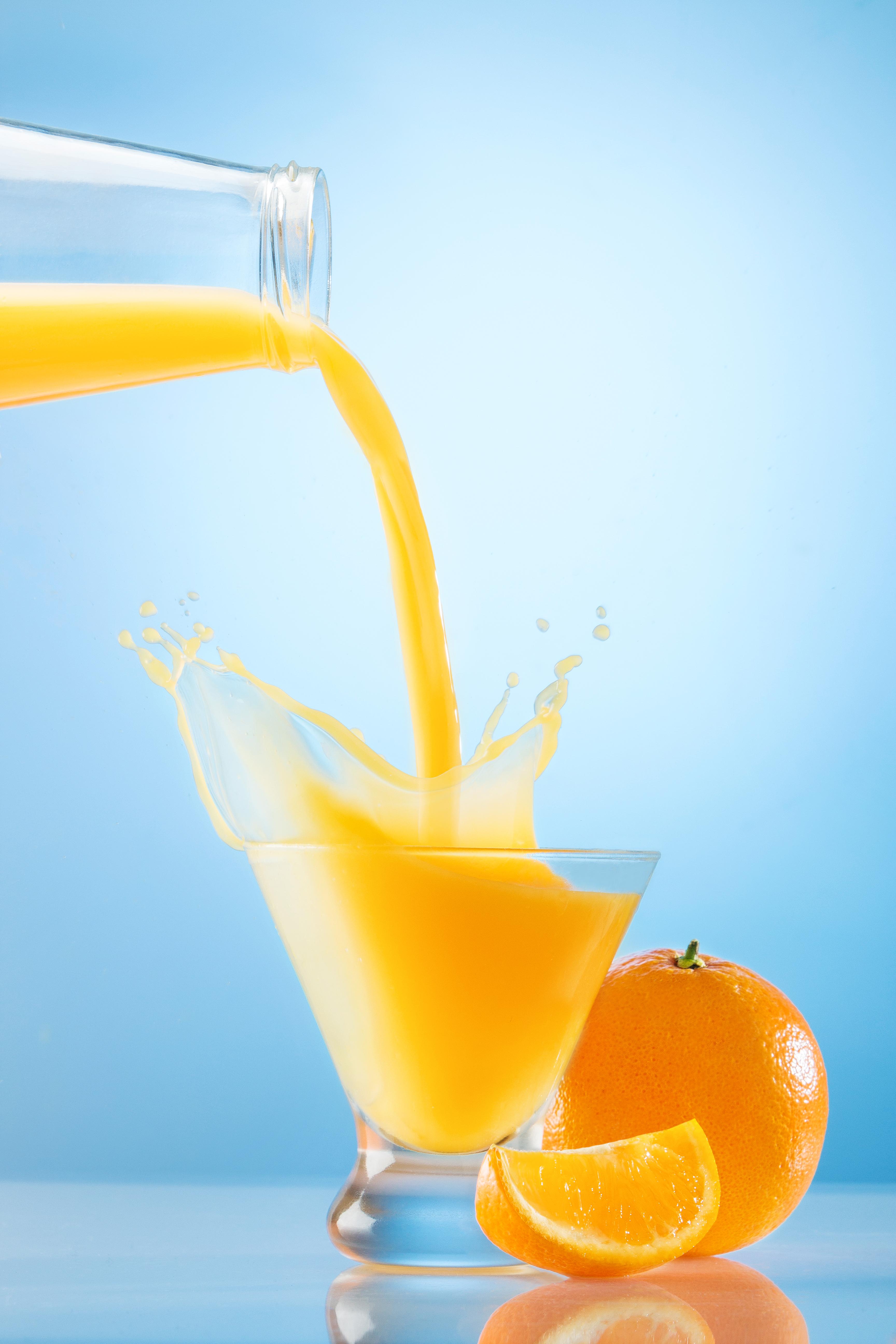 Orange Juice Fruit Beverage Splash
