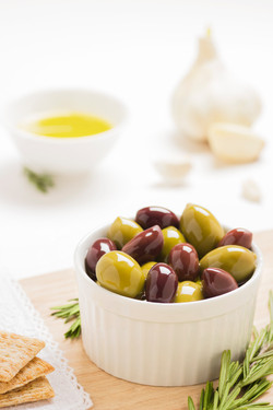 Savoury Olives with Oil and Herbs