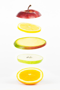 Fruit Slices Levitating