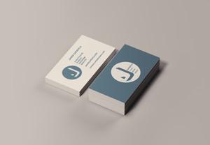 J capdevila Business Cards Stack Mockup.