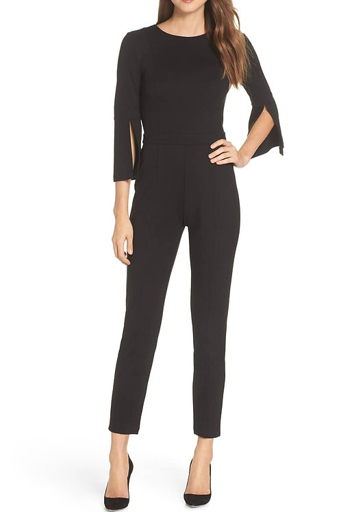 Slim Leg Jumpsuit - Black