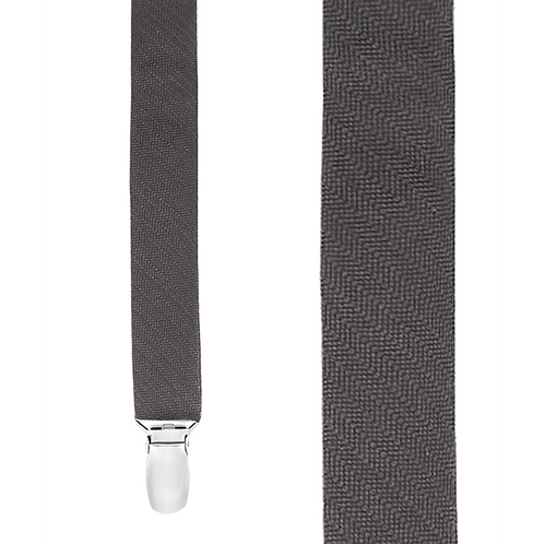 Clip Astute Suspenders - Charcoal