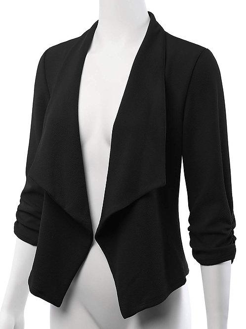 Stretch 3/4 Open Blazer Cardigan Jacket