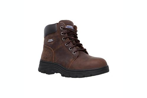 Ladies Workshire Peril Steel Toe Boots - Brown