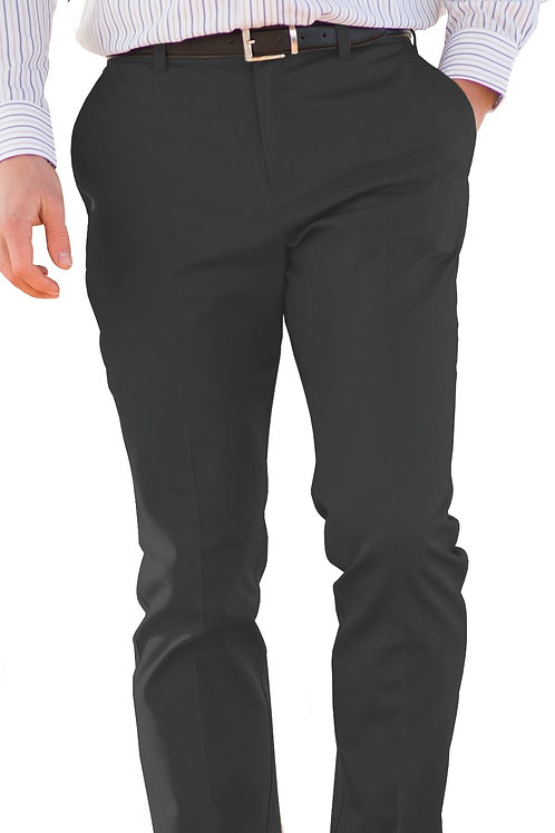 Slim Chino Flat Front Pant - Steel Grey