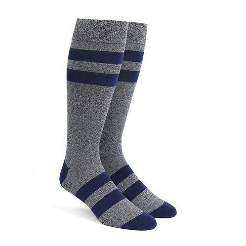 Varsity Stripe Socks - Navy